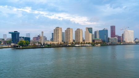 Rotterdam city in the river Maas in South Holland. Netherlands.