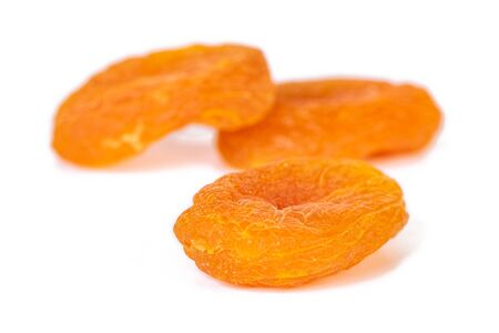 Dried apricots isolated on white background. Healthy food. Fruit.