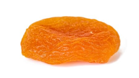 Dried apricots isolated on white background. Healthy food.