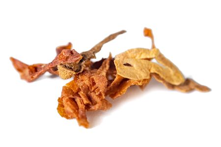 dried smoking tobacco Isolated on a white background.