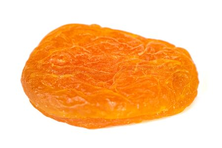 Dried apricot isolated on white background. Healthy food. Stok Fotoğraf