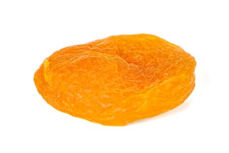 Dried apricot isolated on white background. Healthy food. Fruit. Stok Fotoğraf