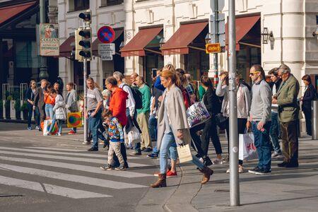Vienna, Austria 25 November 2019 - People walking in the streets of Vienna. Travel.