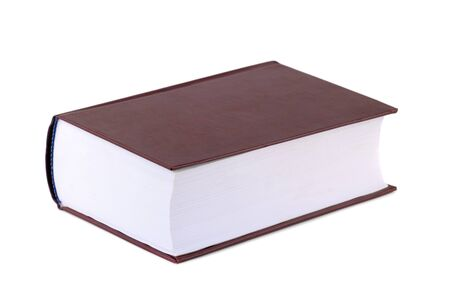 Thick red book isolated on a white background. Education