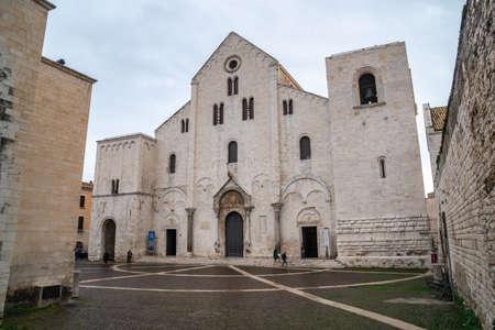Bari, Italy - 06 November, 2019: Famous Saint Nicholas church in Bari, Italy. Religion