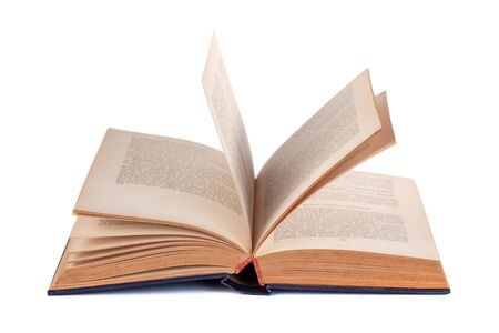 Open book isolated on white background, education, object