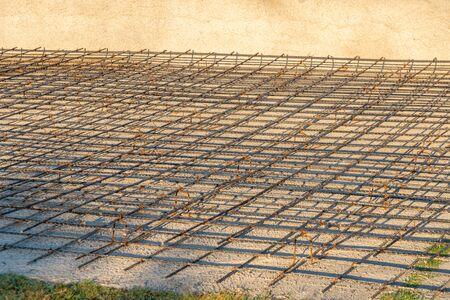 reinforcing steel bars for building armature. Steel reinforcement for concret, industry Foto de archivo