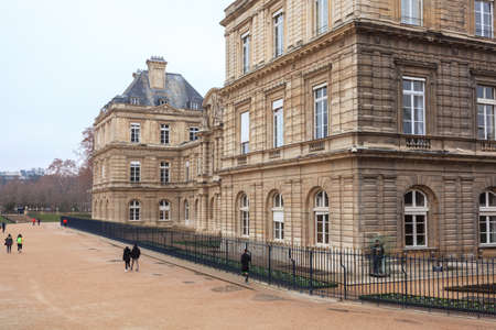 Luxembourg Palace in Jardin du Luxembourg, Paris. Travel.