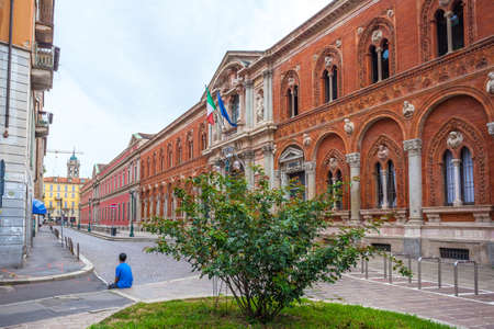 The exterior of the University of Milan. University of Milan is based in famous La Ca Granda. Education. Editorial