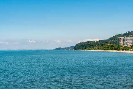 Beautiful view of Black Sea in Adjara, Georgia