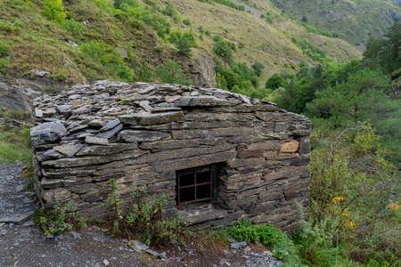 Anatori Crypts, near Shatili in the Upper Khevsureti. Georgia. Travel