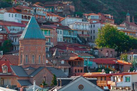Tbilisi, Georgia -7 November, 2020: Old District Abanotubani. Tbilisi, Georgia. Religion Sajtókép