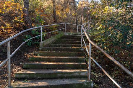 The path leading to Tatsminda park, autumn
