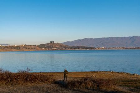 Tbilisi reservoir or The Tbilisi sea, beautiful landscape