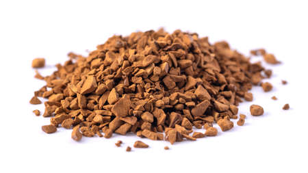 A bunch of natural soluble freeze dried coffee, granules