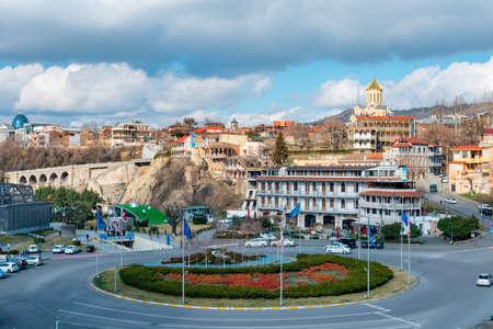 Tbilisi, Georgia - 13 March, 2021: View of Georgian capital of Tbilisi. Travel Redakční