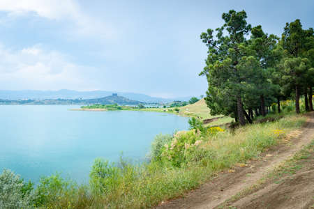 Tbilisi reservoir or The Tbilisi sea, beautiful landscape, travel