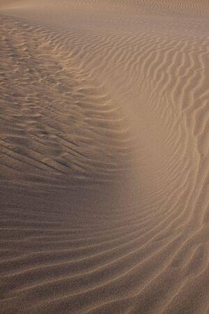 turbulence: Sand turbulence in the desert of Maspalomas