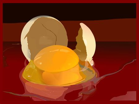 broken egg: Egg, shell, broken egg Illustration