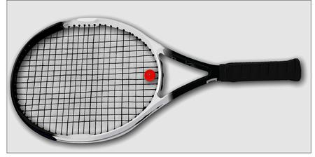 beating: Tennis racket Illustration
