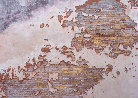 Grunge hintergrund rote alte mauer textur hell verputzte wand aufgegeben außen Städtischer Hintergrund für Ihr Konzept oder Projekt Platz kopieren Grafische Ressource.