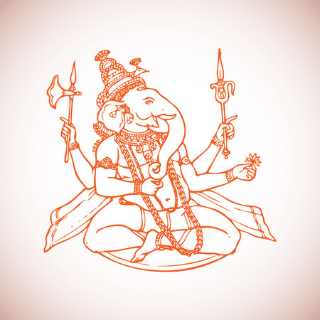 ganpati: Vector Illustration of Lord Ganesha or Ganpati