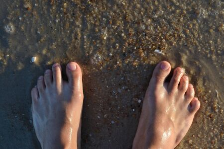 foots: Photograph of steps on the beach of Cear