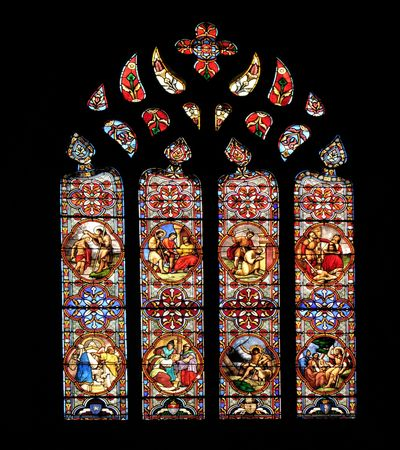 stained glass windows: Stained glass arch