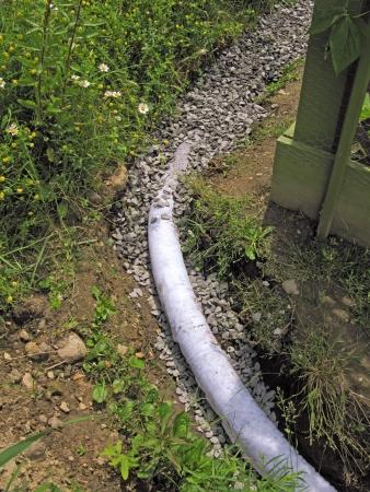 French drain installation