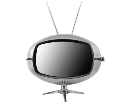 Retro television 1970 Stock Photo