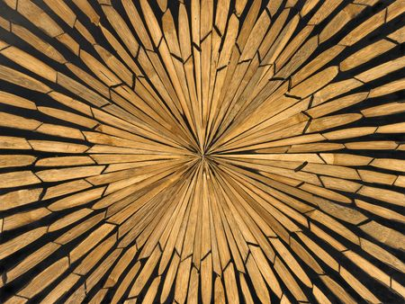 marquetry in wooden bowl