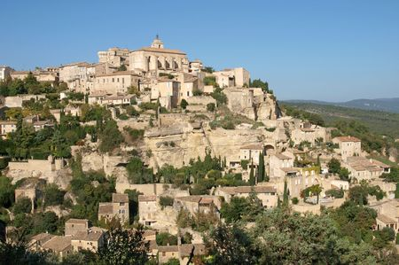 Gordes, hilltop village in Provence Stock Photo