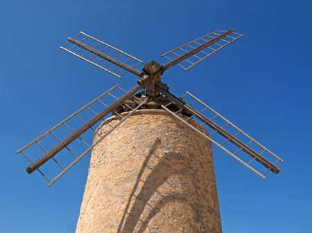 stone windmill in Provence