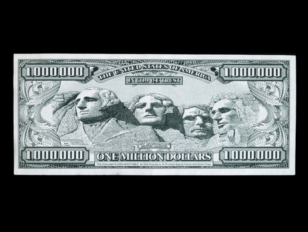 million: fake one million dollar bill Editorial