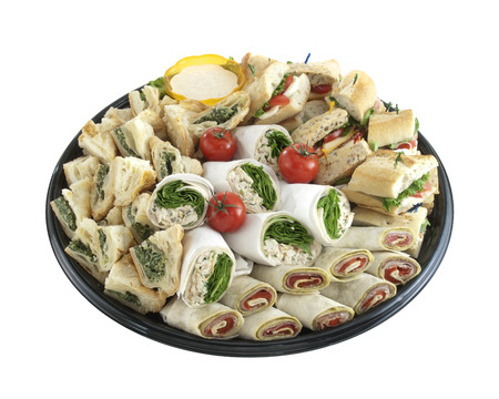 lunch tray: Sandwich tray Stock Photo