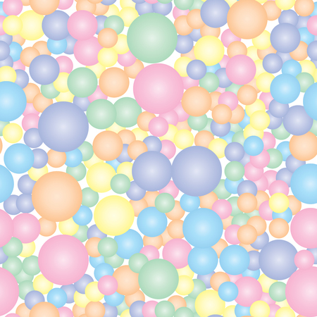 Abstract seamless pattern for the fabric of the colored circles. Vector