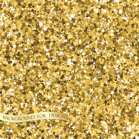 Gold glitter texture. Background for your design. Vector illustration. Stock Illustratie