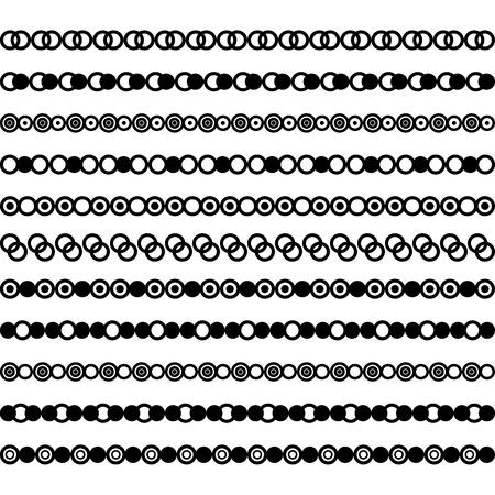 Colección de separadores vectoriales. Se puede utilizar para diseño, cartas, joyas, regalos, cuadernos. Ilustración de vector