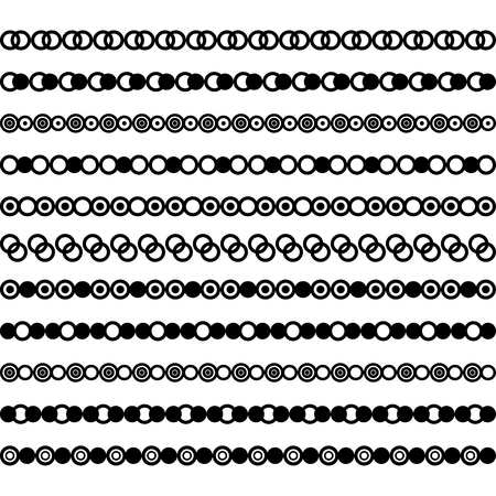 Collection of vector dividers. Can be used for design, letters, jewelry, gifts, notebooks Vector Illustration
