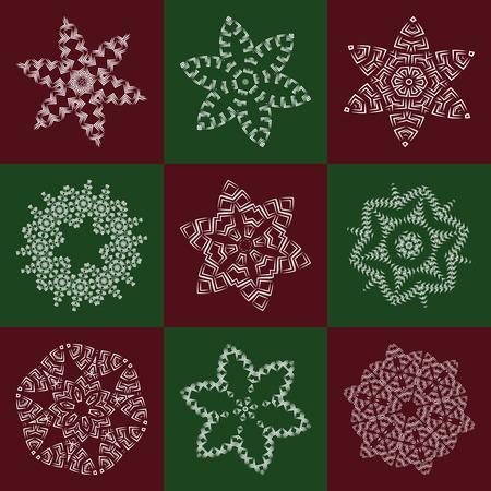 Openwork element for design, napkin, fabric. vector Illustration