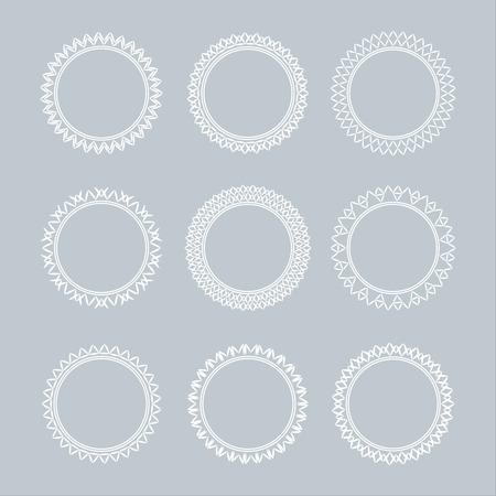 set of lace frames. vintage, geometric, different shapes.