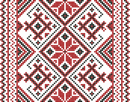 Vector illustration of ukrainian ornament seamless. For wallpaper, textiles, cards, notebooks