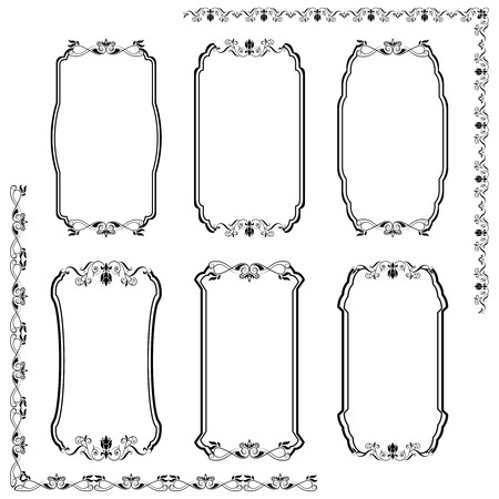 A set of template frames of different shapes.