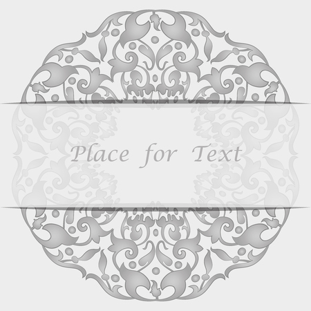 Round tracery napkin. Lace round frame