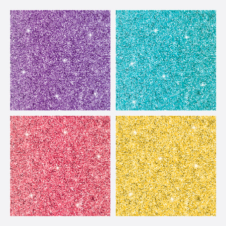Colored shiny glitter backgrounds in style. Vector illustration