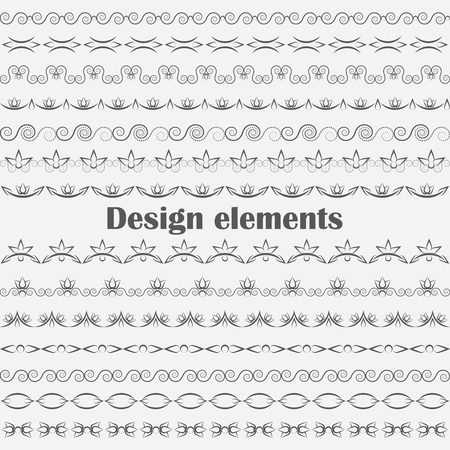 Collection of vector dividers Vector Illustration