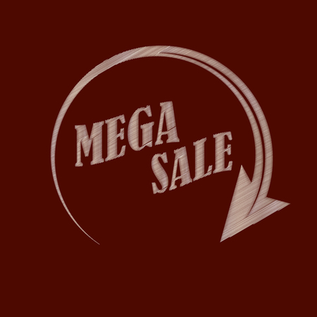 Mega sale. Imitation of embroidery to decorate your ideas. Vector illustration. Illustration