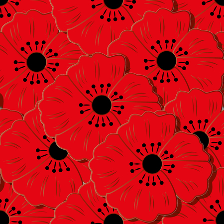 Seamless pattern with flowers. Can be used for background, wallpaper, decoration.