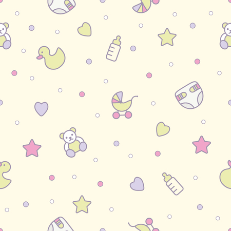 Baby toys seamless pattern.Can be used for textiles, paper Illustration