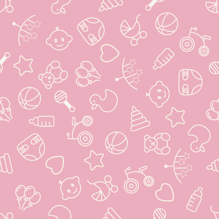 Baby toys seamless pattern. Can be used for textiles, paper and other design. Illustration